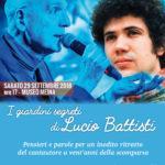 """29 settembre: evento """"Nei giardini segreti di Lucio Battisti"""""""