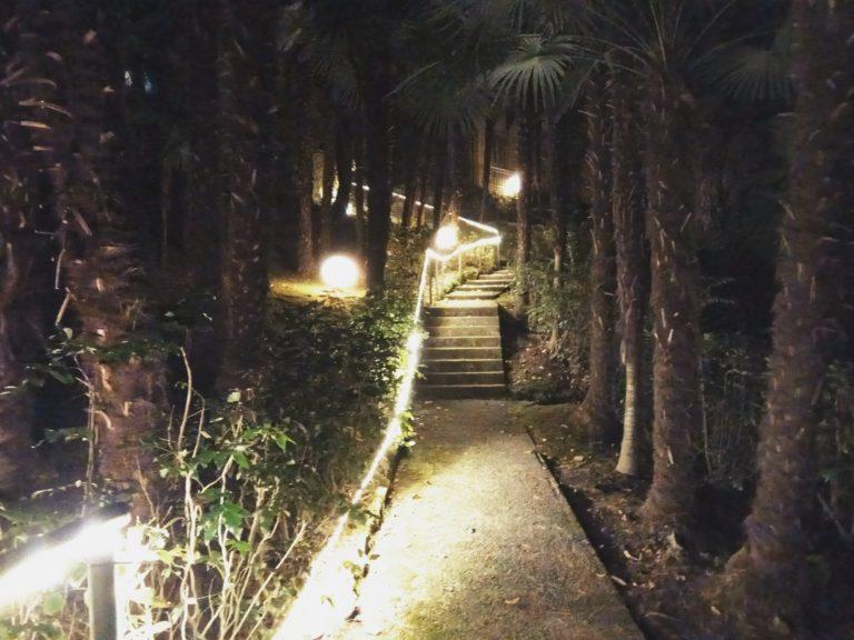 parco museo meina illuminato