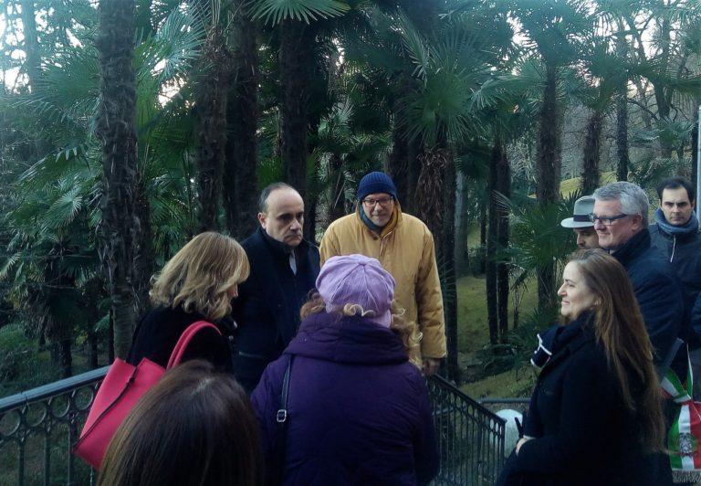 Parco Museo Meina con Ministro della Cultura
