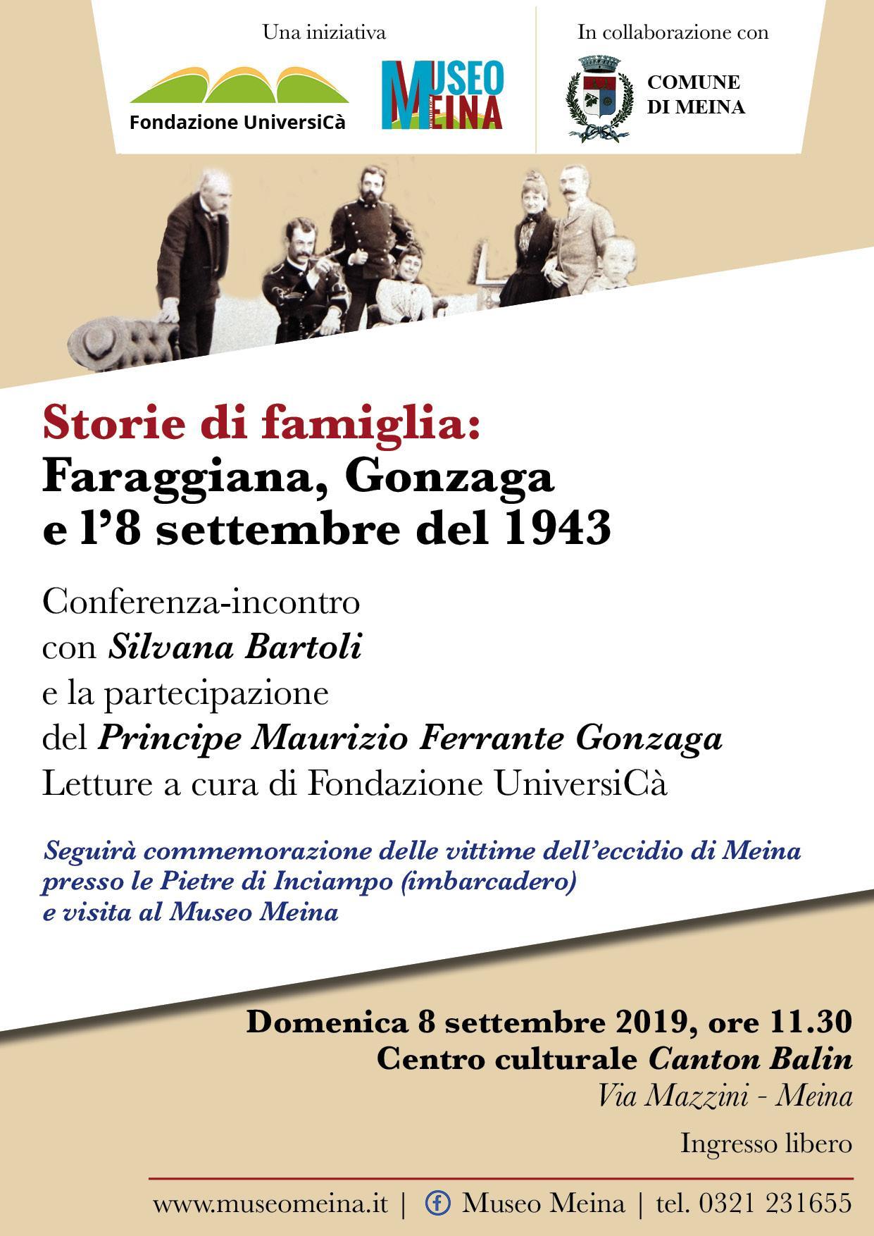 Storie di Famiglia: Faraggiana, Gonzaga e l'8 settembre 1943